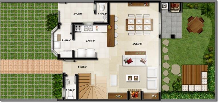 modelo de planta de casa 3D