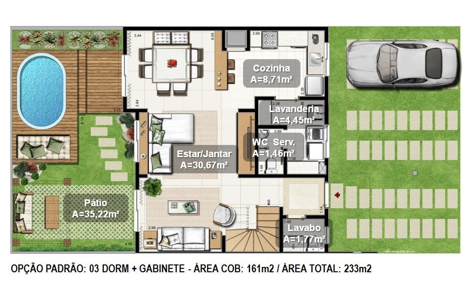 10 modelos de plantas de casa Grátis