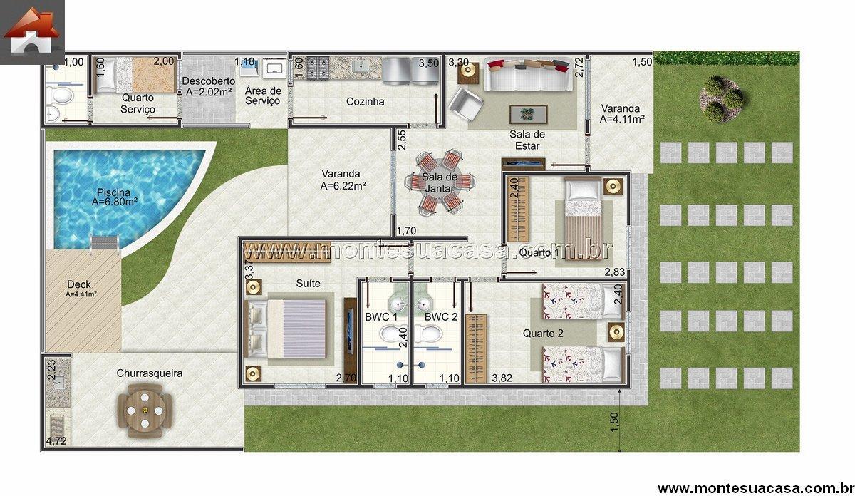 10 modelos de plantas de casas gr tis modelos projetos for Casa moderna 2 andares 3 quartos
