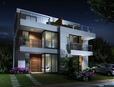 10 modelos de casas tríplex