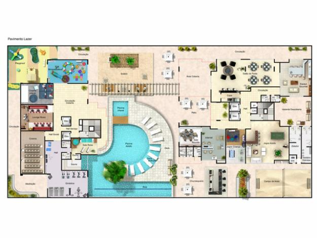 10 plantas para casas grandes for Plantas para piscinas