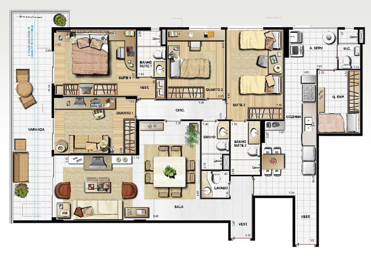 10 plantas para casas grandes