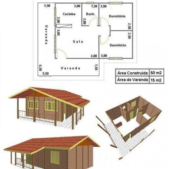 10 tipos de plantas de casas de madeira