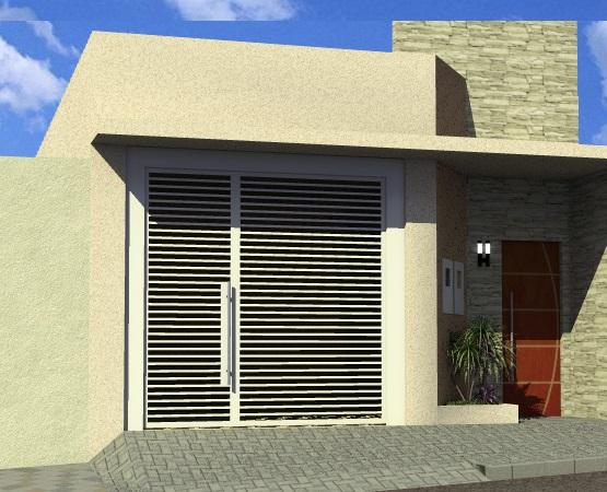 fachadas de casas com muro