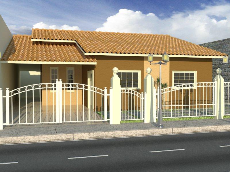 Fachadas para casas pequenas e modernas
