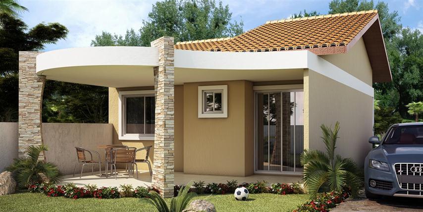 fachada de casa com detalhes em pedra