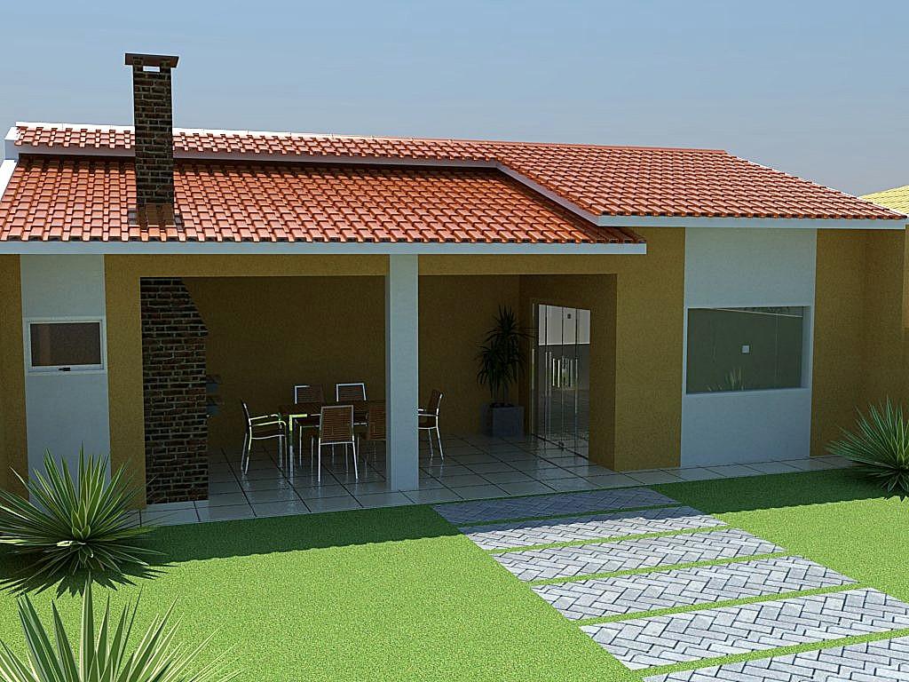 10 fachadas para casas simples for Casas modernas simples