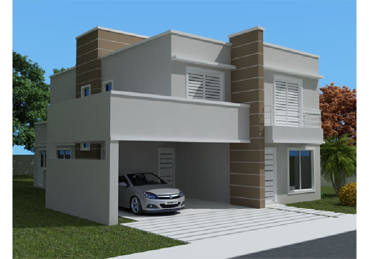 30 modelos incr veis de fachadas de casas pequenas e modernas for Casas minimalistas modernas pequenas