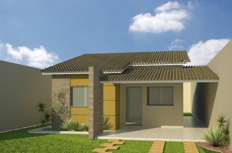 30 modelos incr veis de fachadas de casas pequenas e modernas for Modelos de patios de casas pequenas