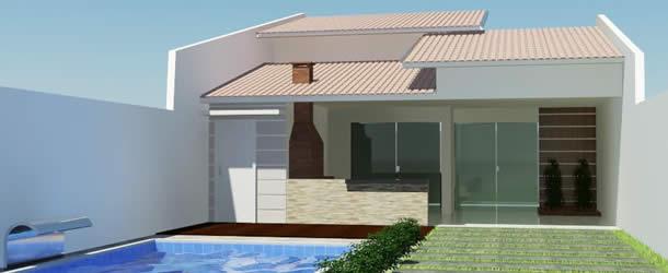 30 fotos de fachadas de casa simples fotos e dicas for Fachadas minimalistas de casas pequenas