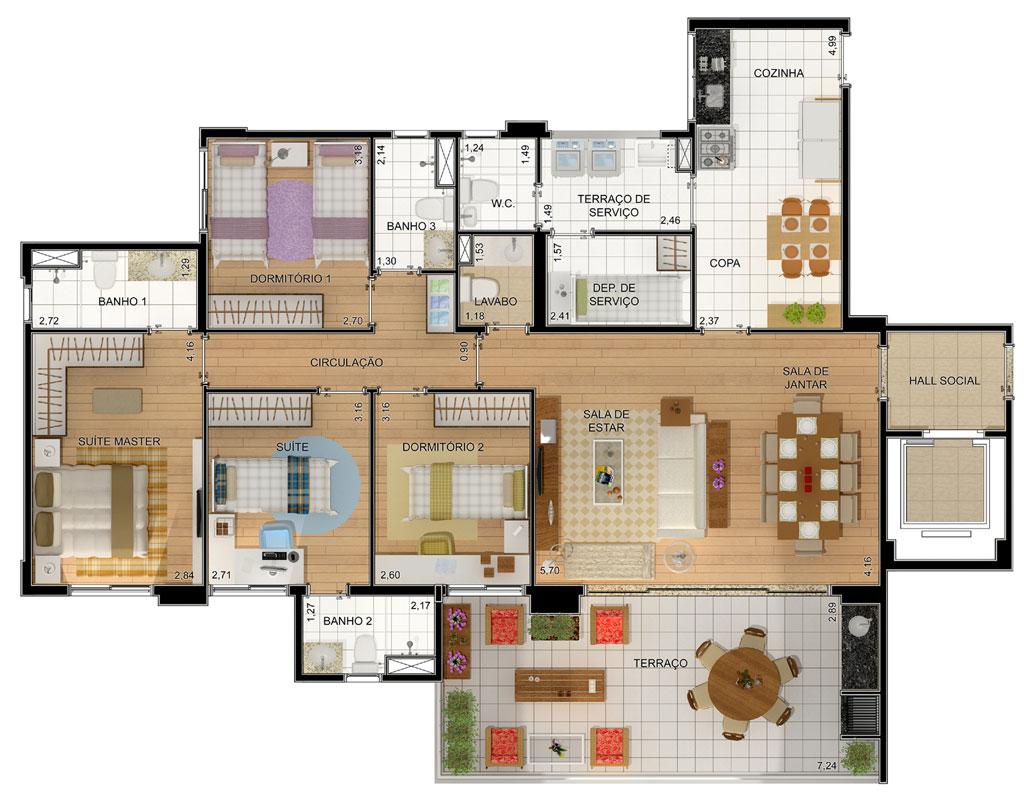 plantas de casas com quartos