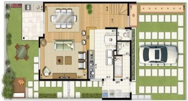 planos de casas de dos pisos americanas