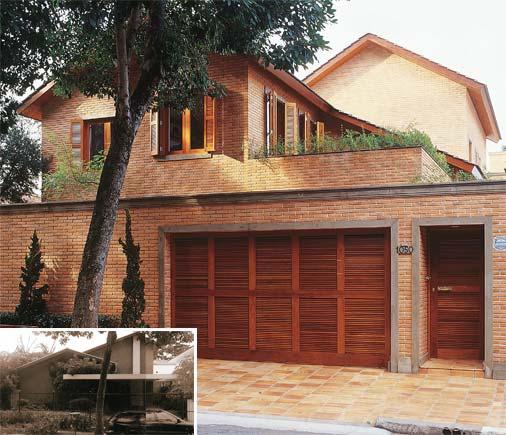 casas com fachadas de tijolo a vista
