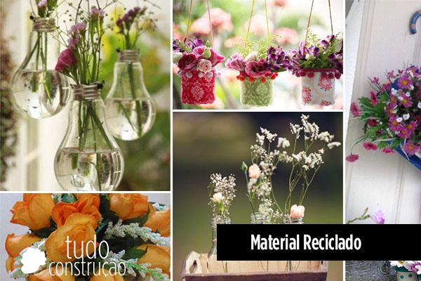 Como fazer decoraç u00e3o com material reciclável 10 dicas -> Decoração De Jardim Com Material Reciclavel