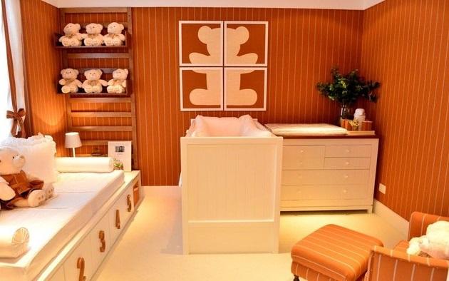 Decoração cores quentes quarto infantil