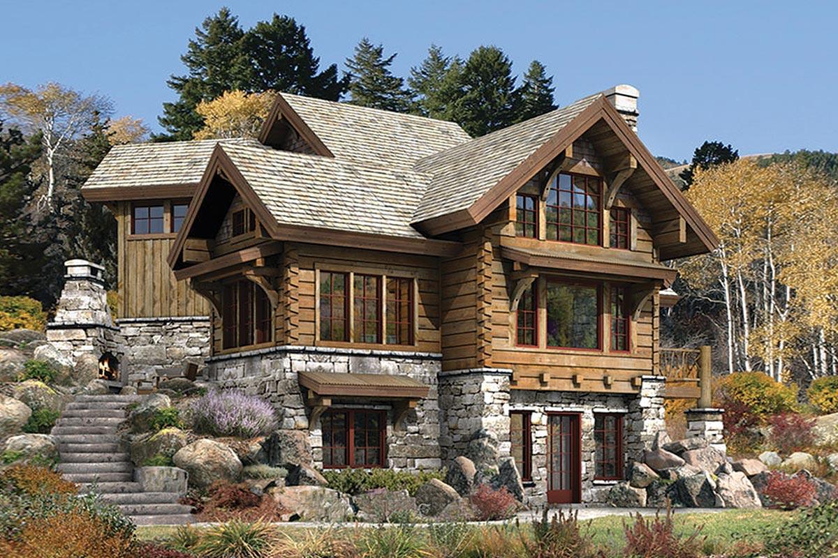 Fachadas de casas de campo: Modelos, Fotos