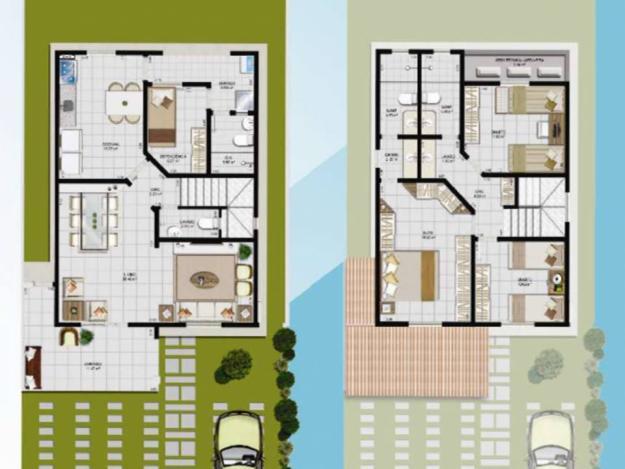Casa duplex com garagem