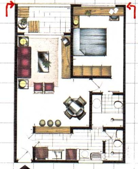 Casa pequena planta