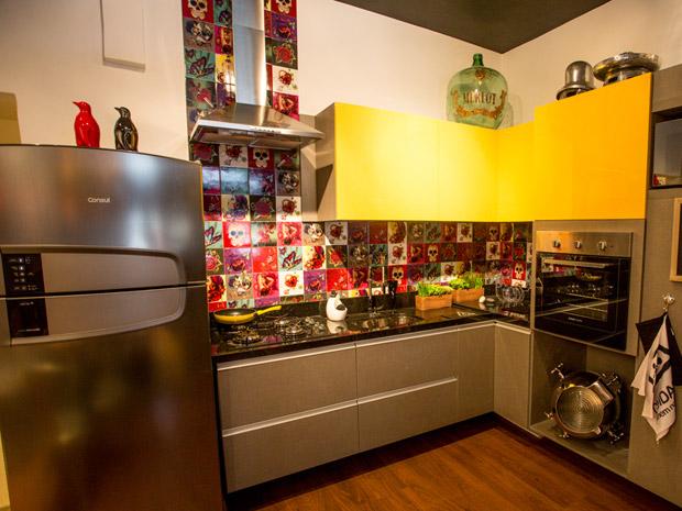 decorar cozinha gastando pouco:Decoração da casa com azulejo de adesivo