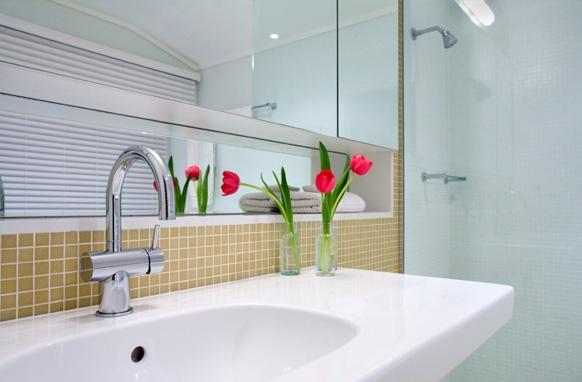 Flor decorando o banheiro