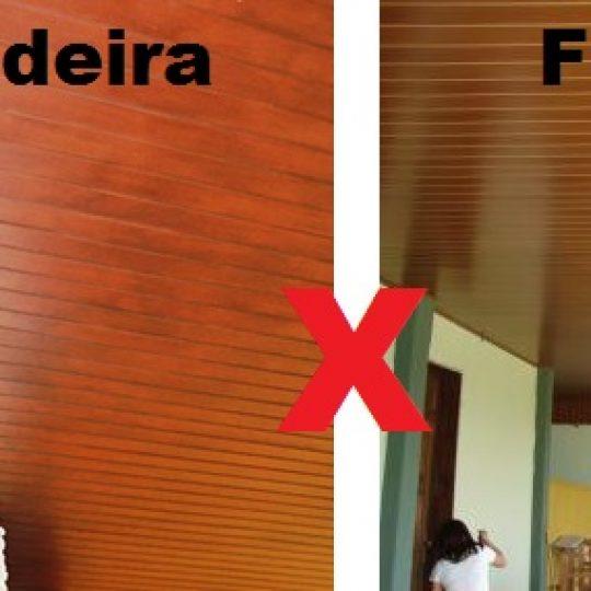 Forro de Madeira ou PVC