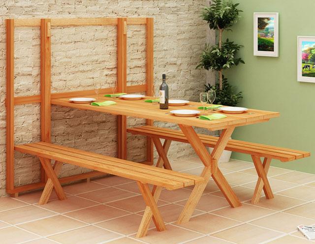 Armario Empotrado ~ 5 Modelos de mesa dobrável de parede