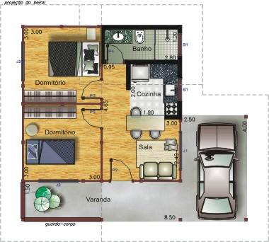 Plantas de casas gr tis modelos como desenhar for Modelo de casa x dentro