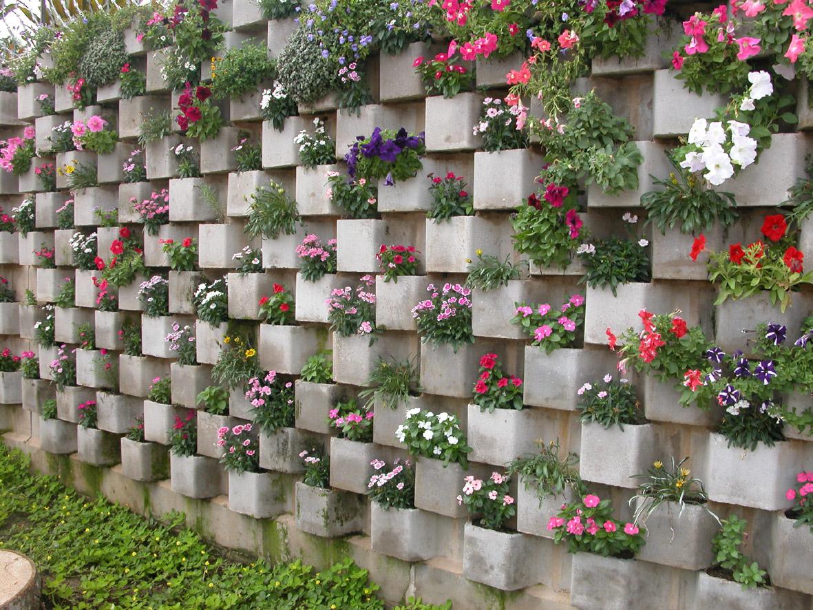 Fachadas de casas com muros residenciais modelos for Muros de plantas verticales