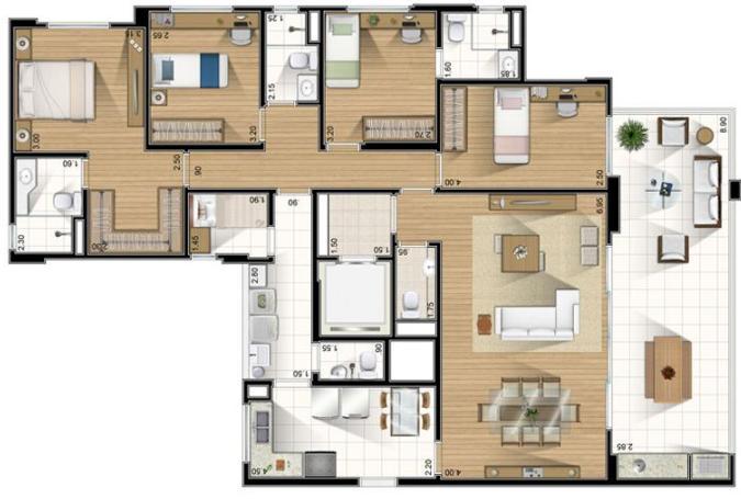 Modelos de plantas baixas de casa moderna