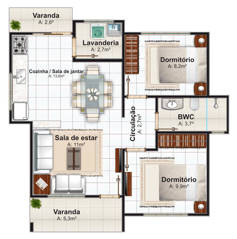 Planta baixa de casas pequenas modernas modelos incr veis for Casa moderna 90m2