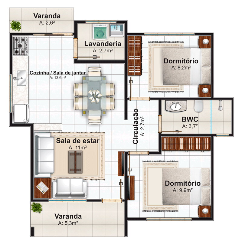 planos de casas modernas pequenas