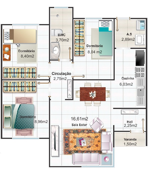 Planta baixa de casas pequenas modernas modelos incr veis - Plantas pequenas de interior ...