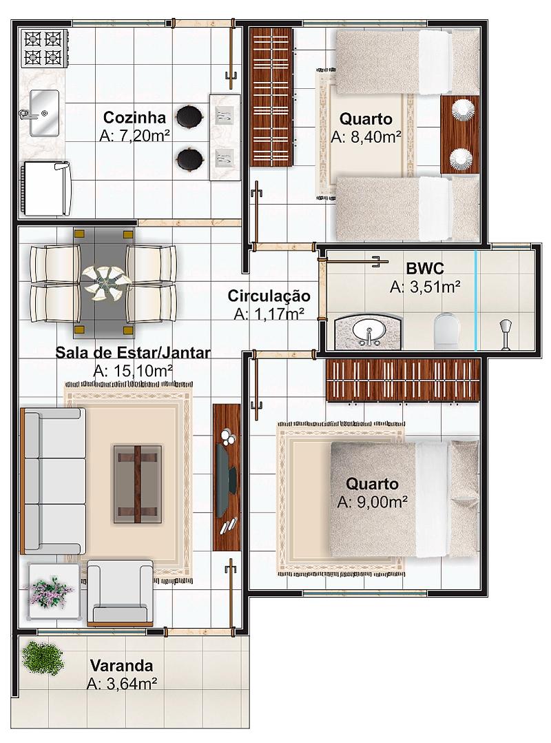 Projetos de casas simples 15 modelos - Plantas para casa ...