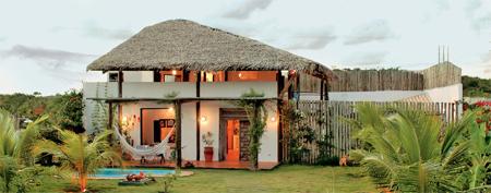 Fachada de casa de praia