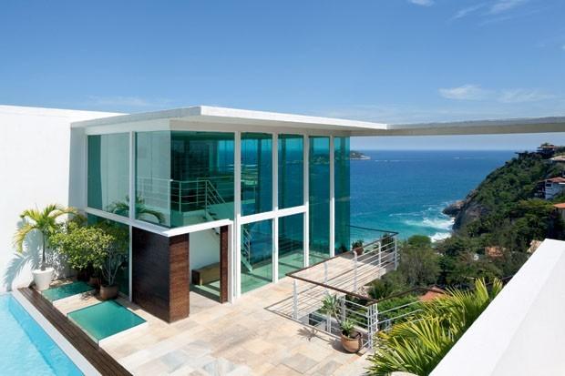 Casas de praia modernas
