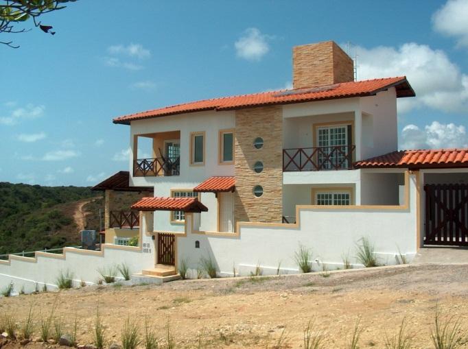 Algumas fachadas de casas de praia