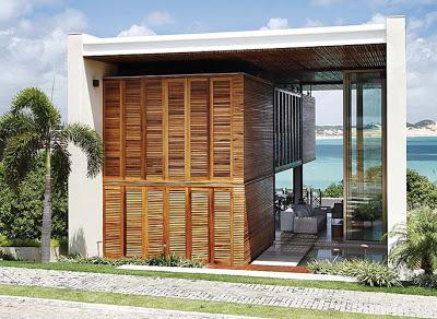 Imagens  fachadas de casas de praia