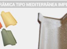 Telha cerâmica mediterrânea