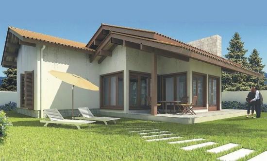 Fachadas de casas simples com varanda