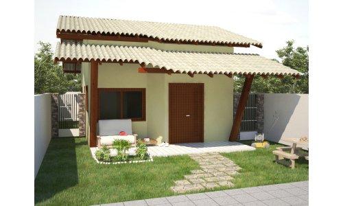 Casa simples com varanda