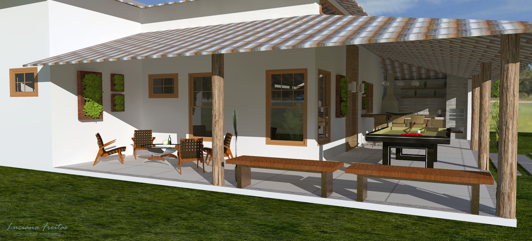 Fachadas de casas simples com varanda 30 fotos for Inmobiliarias de bancos