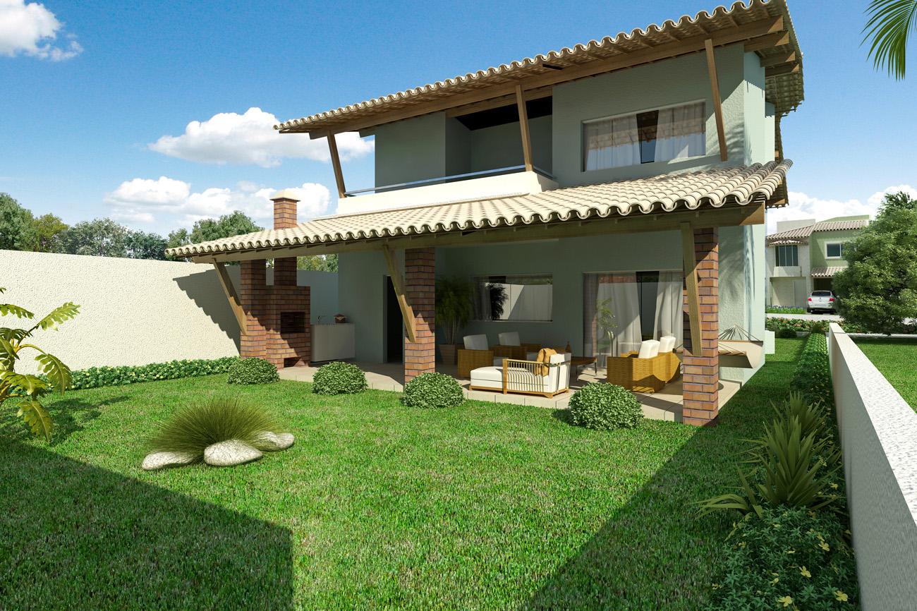 Fachadas de casas simples com varanda: 30 fotos