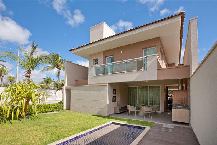 Casa simples com varanda simples