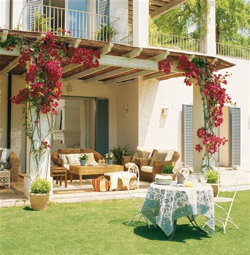 Decoração de varanda com flores
