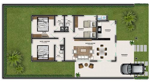 15 plantas para casas at 50 mil for Modelo de casa procrear lujan 3 dormitorios