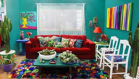 Casa decorada com artesanato