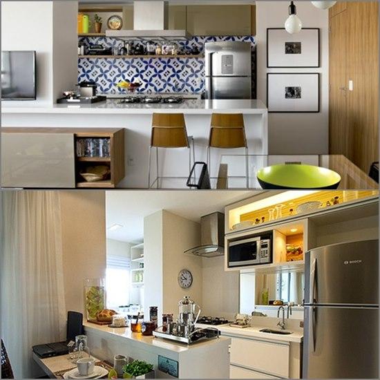 Microondas em cozinha
