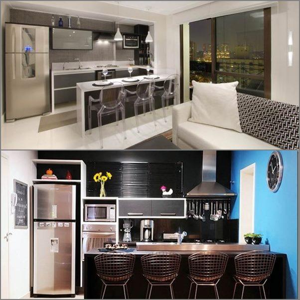 Microondas na cozinha