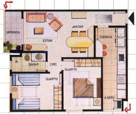 Plantas de casas com 4 c modos - Plantas aromaticas en casa ...