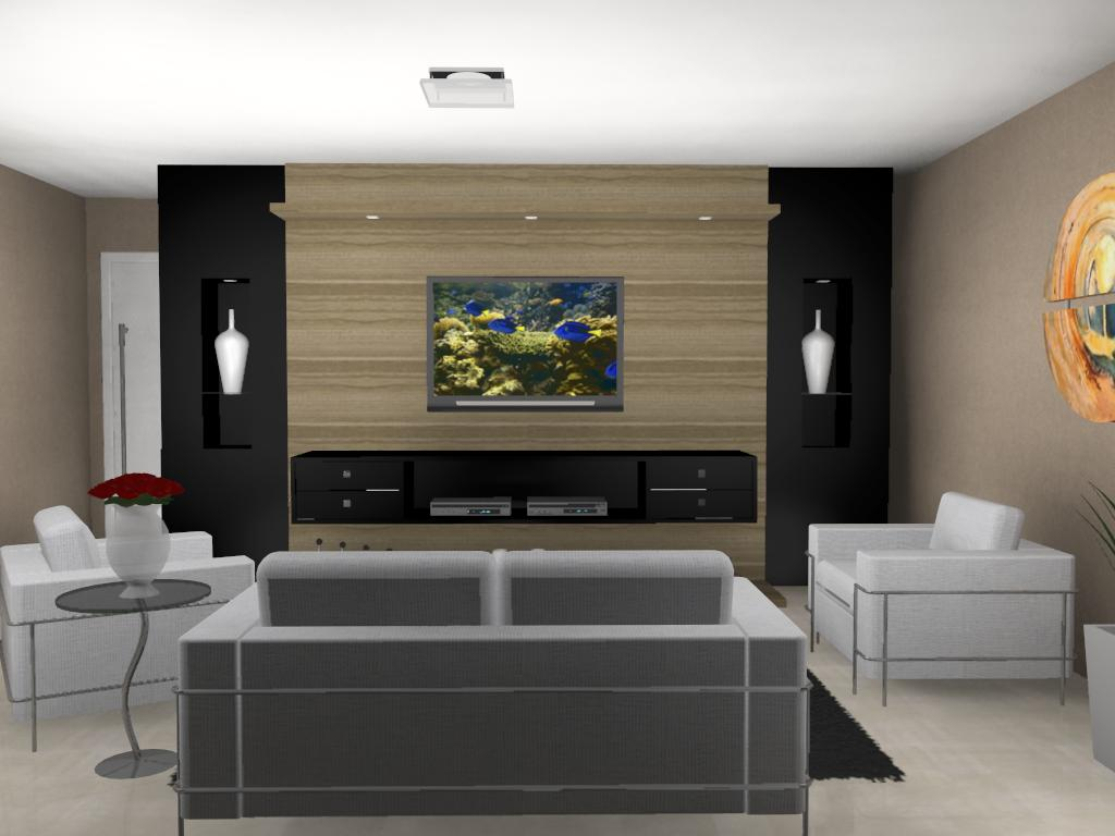 30 Tipos De Moveis Sob Medida Para Sala -> Fotos De Salas De Tv